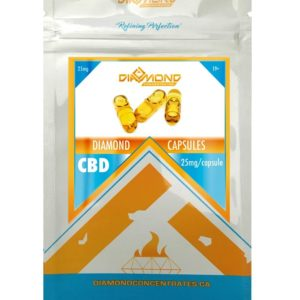 diamond concentrates cbd capsules 25 mg