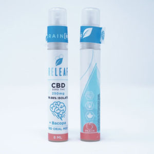 releaf cbd bacopa peach oral mist